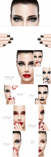 Fashion make-up, woman - Stock photo