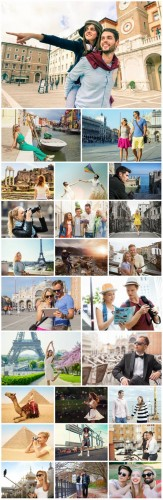 People, leisure, travel - Stock photo