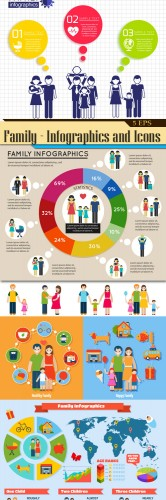 Family - Infographics and Icons