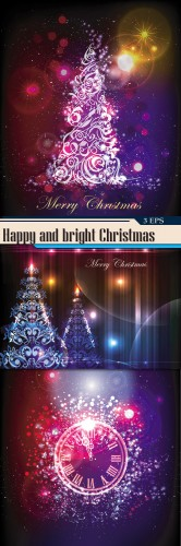 Happy and bright Christmas