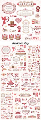 Design elements vector Valentine's Day