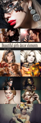 Beautiful girls decor elements