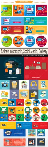 Business Infographic, Social Media, Delivery