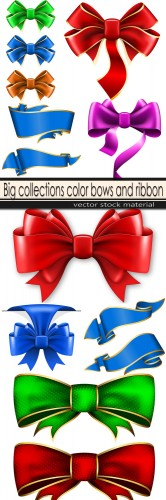 Big collections color bows and ribbon