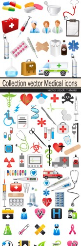 Collection vector Medical icons