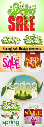 Spring Sale Design elements