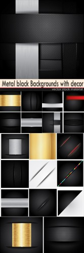 Metal black Backgrounds with decor