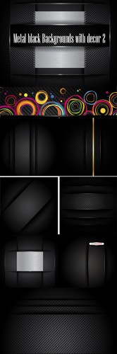 Metal black Backgrounds with decor 2