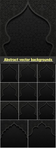 Abstract vector backgrounds with traditional ornaments