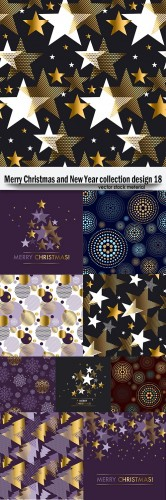 Merry Christmas and New Year collection design 18