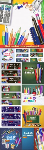 Back to school vector greeting card # 8