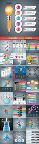 Infographics vector template for business presentations or information banner # 9