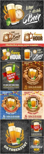 Oktoberfest menu vector template