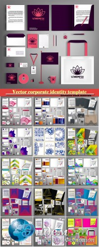 Trendy vector corporate identity template design, modern business set