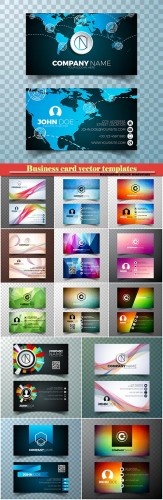 Business card vector templates # 27