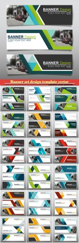 Banner set design template vector
