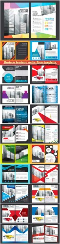 Business brochure vector, flyers templates # 37