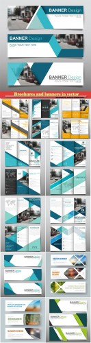 Brochures and banners in vector