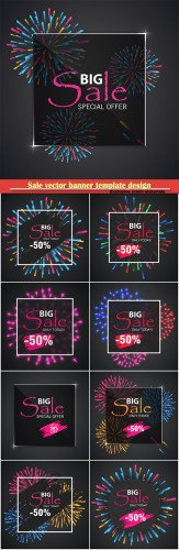 Sale vector banner template design