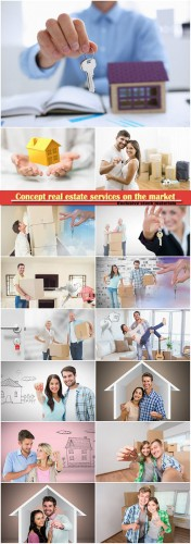 Concept real estate services on the market