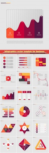 Infographics vector template for business presentations or information banner # 18