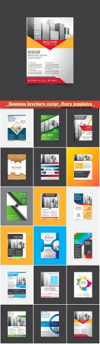 Business brochure vector, flyers templates, report cover design # 86