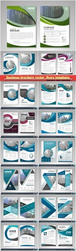 Business brochure vector, flyers templates, report cover design # 92