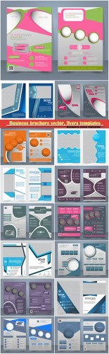 Business brochure vector, flyers templates, report cover design # 95