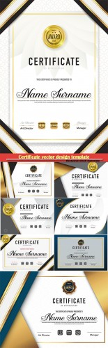 Certificate and vector diploma design template # 51