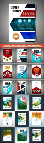 Business brochure vector, flyers templates, report cover design # 94