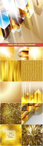 Vector gold abstract background with iridescent mesh gradient