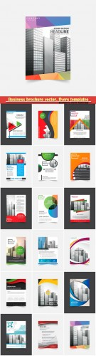Business brochure vector, flyers templates, report cover design # 105