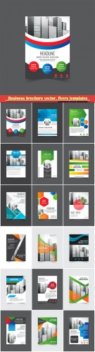 Business brochure vector, flyers templates, report cover design # 101