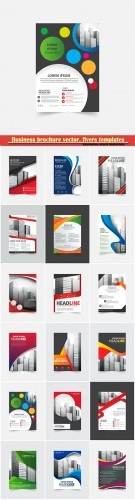 Business brochure vector, flyers templates, report cover design # 104