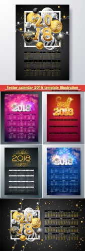 Vector calendar 2018 template Illustration