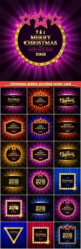 Christmas and new year background for design banners, flyers, cards with three gold stars