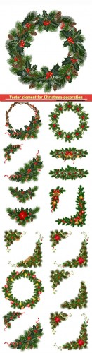 Design vector element for Christmas decoration