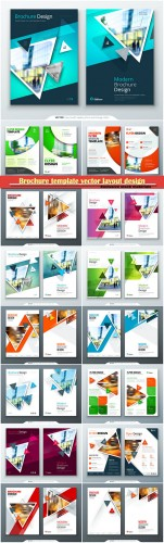 Brochure template vector layout design, corporate business annual report, magazine, flyer mockup