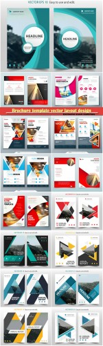Brochure template vector layout design, corporate business annual report, magazine, flyer mockup # 109