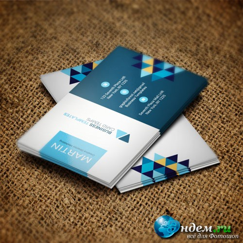 Rhombus - business card templates